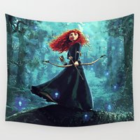pixar Wall Tapestries featuring Brave by Juniper Vinetree