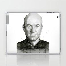 Captain Picard Watercolor Portrait Laptop & iPad Skin
