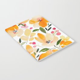 Yellow and Orange Floral Notebook