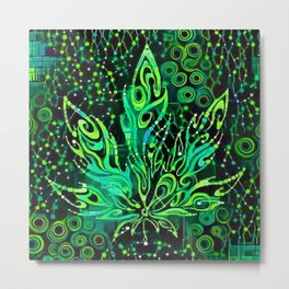 Cannabis Leaf Abstract 1b Metal Print