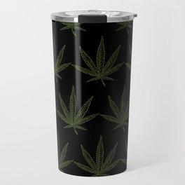 Weed Leaf Black Travel Mug