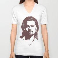 brad pitt V-neck T-shirts featuring Brad Pitt :) by Dora Birgis