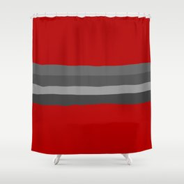 Abstract Grey Lines Shower Curtain
