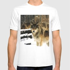 Wolves in The Snow White MEDIUM Mens Fitted Tee