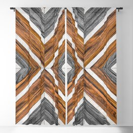 Urban Tribal Pattern No.4 - Wood Blackout Curtain