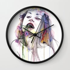 Flower Eater Wall Clock