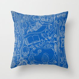 witches cupboard Throw Pillow
