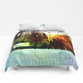 Colorful cow Comforters