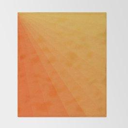 Shades of Sun - Line Gradient Pattern between Light Orange and Pale Orange Throw Blanket