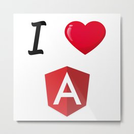 I love Angular - I Love Angular Js Metal Print