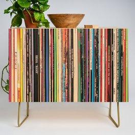 Alternative Rock Vinyl Records Credenza
