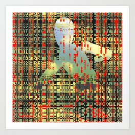 digital quicksand Art Print