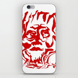 face5 red iPhone Skin