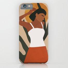 Indian Woman, Modern Boho Art iPhone Case