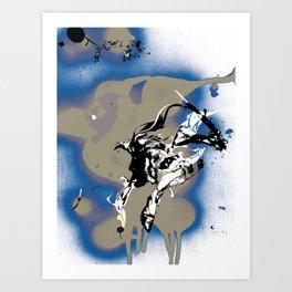 BAD MOON - SLIDE Art Print