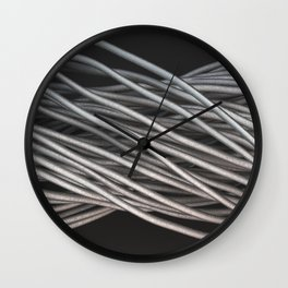 Twisted aluminum wires Wall Clock