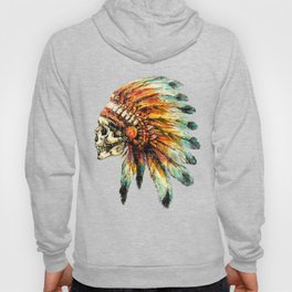 Skull Colorful Chief Hoody