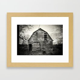 Canadian barn Framed Art Print