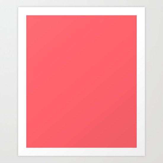 Coral Red Art Print
