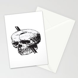 Frontal Lobotomy Skull Of Phineas Gage Vector Isolated Stationery Cards
