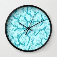 Mint Thorn Wall Clock