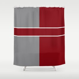 Team Color 6....gray,maroon Shower Curtain