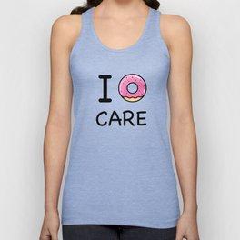 I donut care Unisex Tank Top