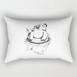 Swimming Poule Rectangular Pillow