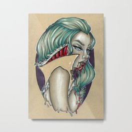 Vampira Metal Print