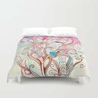 clover Duvet Covers featuring Floral clover by /CAM