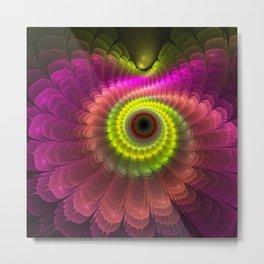 Curling up fantasy flower Metal Print