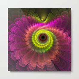 Curling up fantasy flower Metal Print