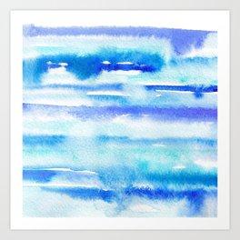 Watercolor sea Art Print