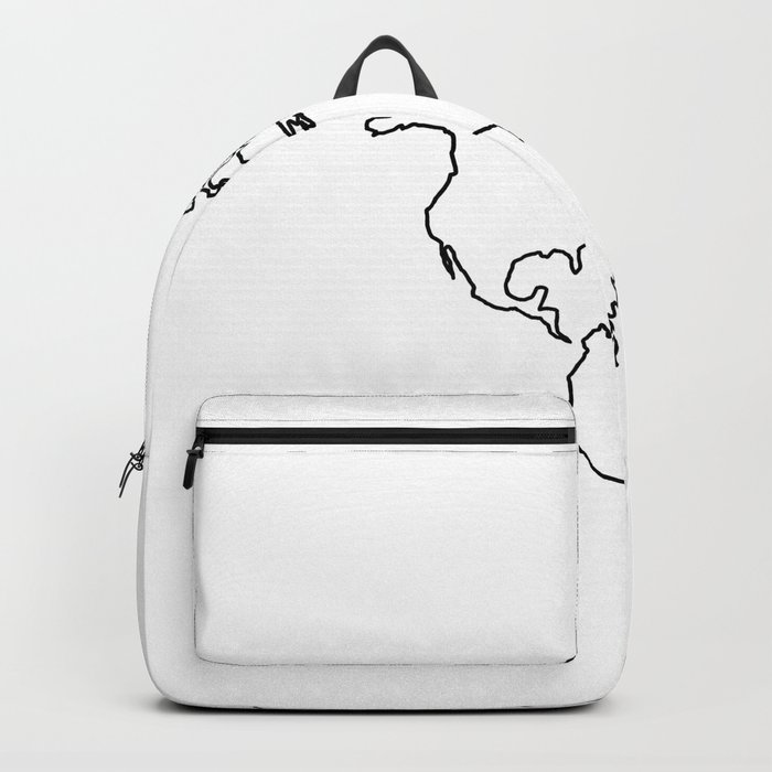 Adventure Map on White Backpack