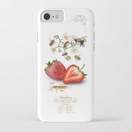 Strawberry and Pollinators iPhone Case