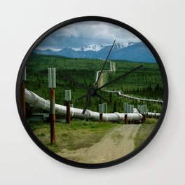 Alaska Pipeline Wall Clock