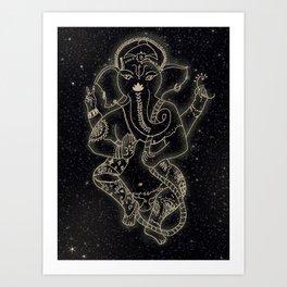 Ganesha In the Stars Art Print