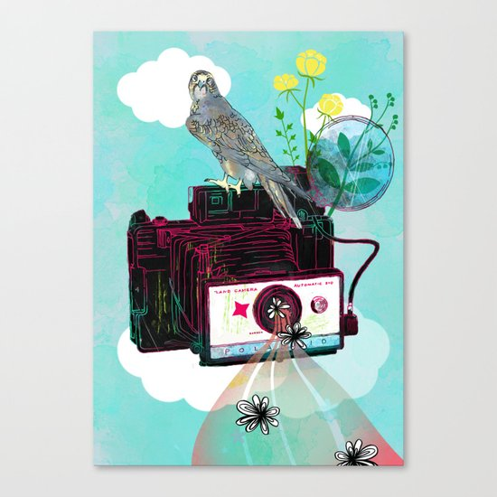 Vintage Polaroid Land Camera Canvas Print