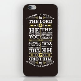 Psalm 37:4 iPhone Skin