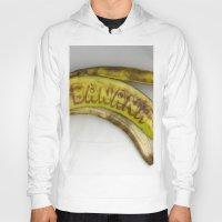 banana Hoodies featuring Banana by Abby Hoffman