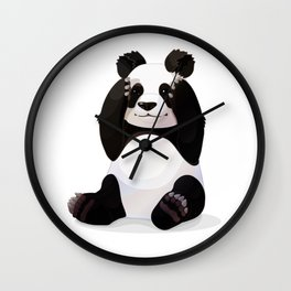 Cute big panda bear Wall Clock