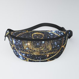 Gold funky Space Buddha Fanny Pack
