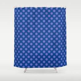 Lavender Blue Polka Dot Pattern Shower Curtain