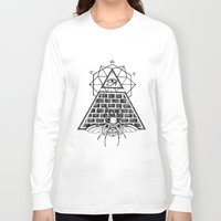 pyramid Long Sleeve T-shirts featuring Pyramid by alesaenzart