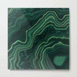 Malachite Texture 05 Metal Print