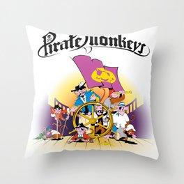 Pirate Monkeys Throw Pillow