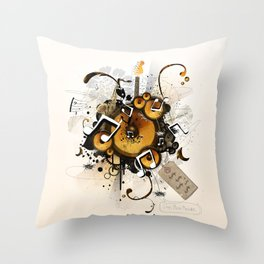 The Music Machine Throw Pillow