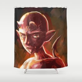 little young teen devil Shower Curtain