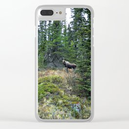 Mr. Moose Way Up North Clear iPhone Case