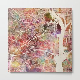 Alexandria map Metal Print